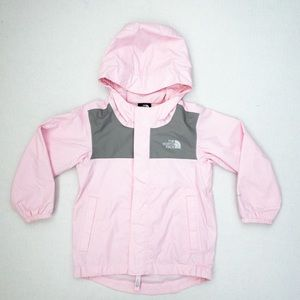 The North Face Kids Pink and Gray Rain Jacket (2T)